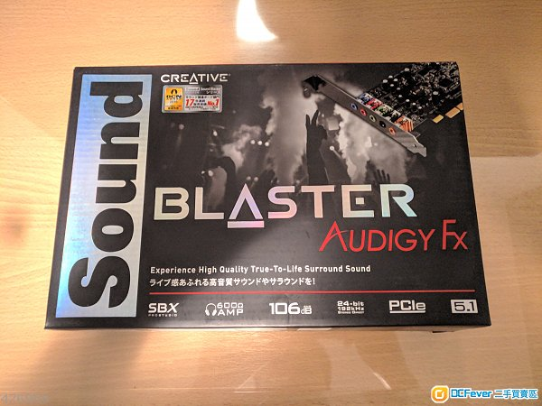 Creative Sound Blaster Audigy Fx 5.1 PCI-E 外置式音效卡